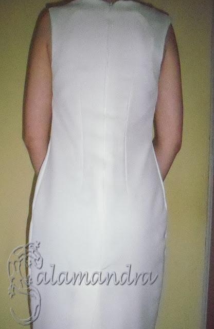 prosta sukienka wyjściowa