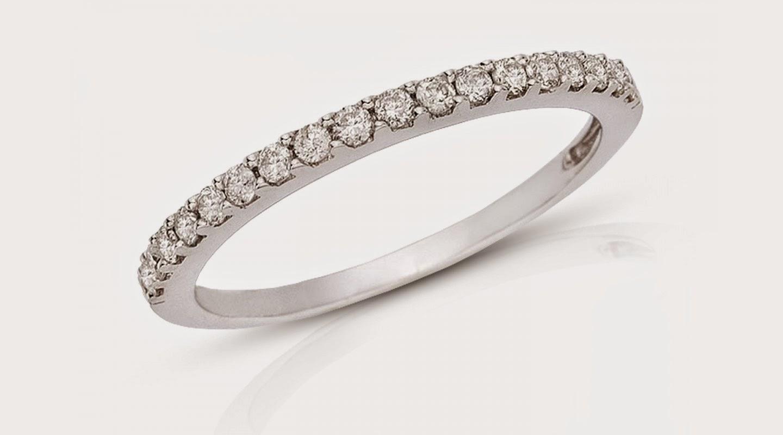 fotos anillos de compromiso oro blanco - Anillo de compromiso Oro blanco 18K con diamante 1136