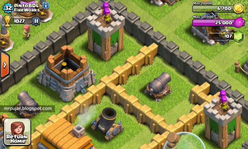 pertahanan kerajaan di game clash of clans