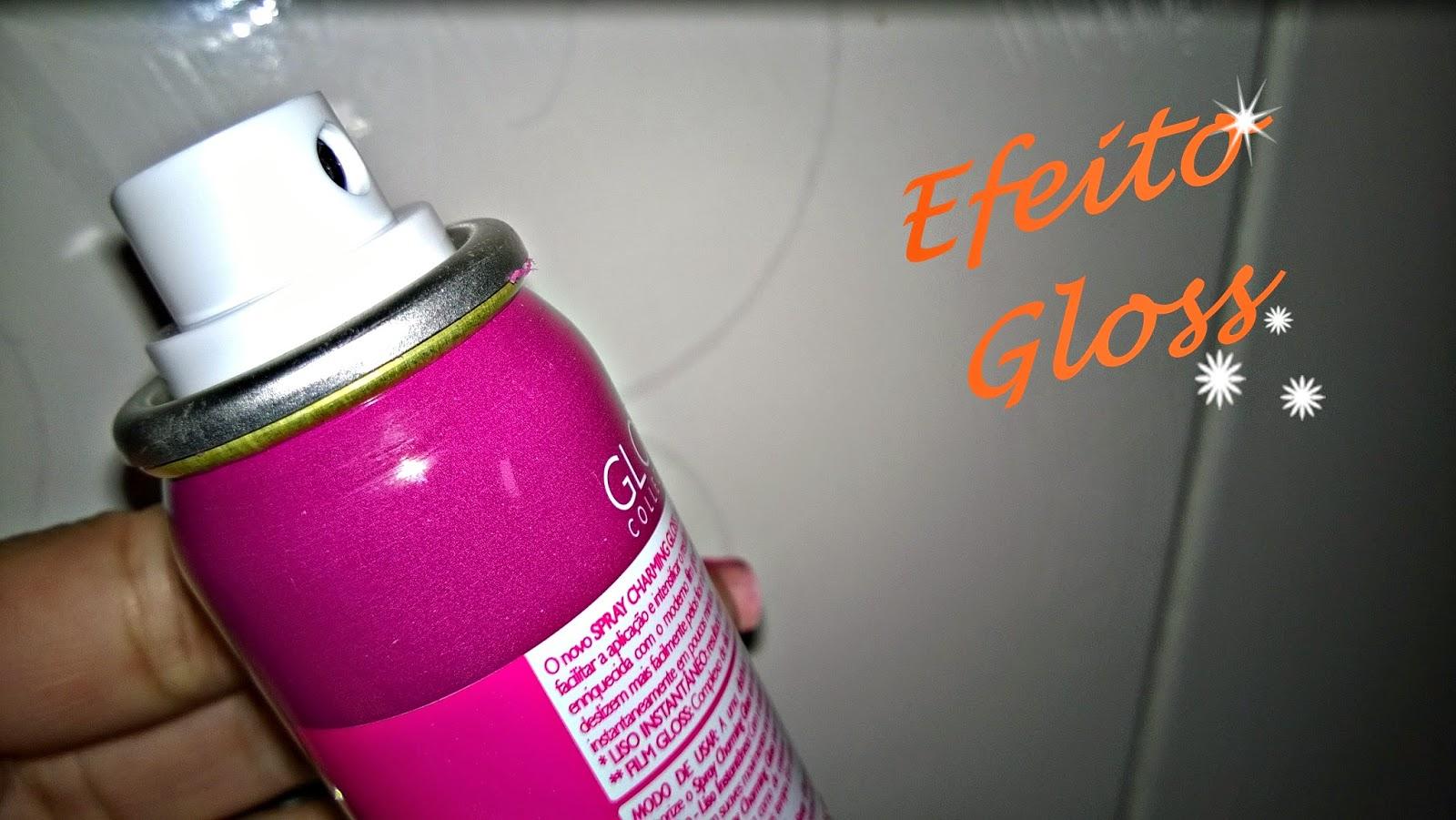 Spray Gloss da Charming: Secador e Chapinha