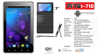 Mito T710 - Spesifikasi Tablet Android 7 Inch Dual SIM Telepon SMS - Berita Handphone
