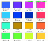 Bảng mã màu thập lục đẹp cho Blogger