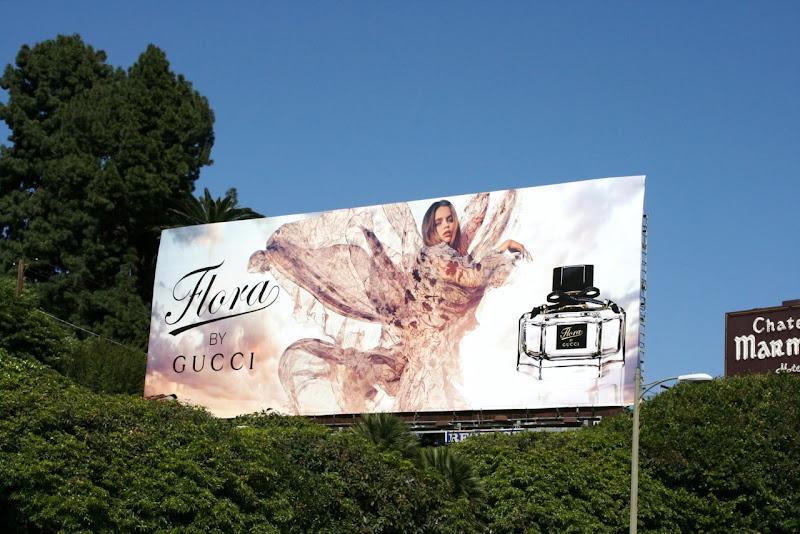 Gucci Flora perfume billboard