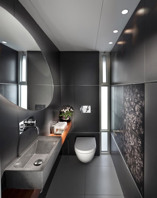 Diseno De Baño Principal:Small Black Bathroom