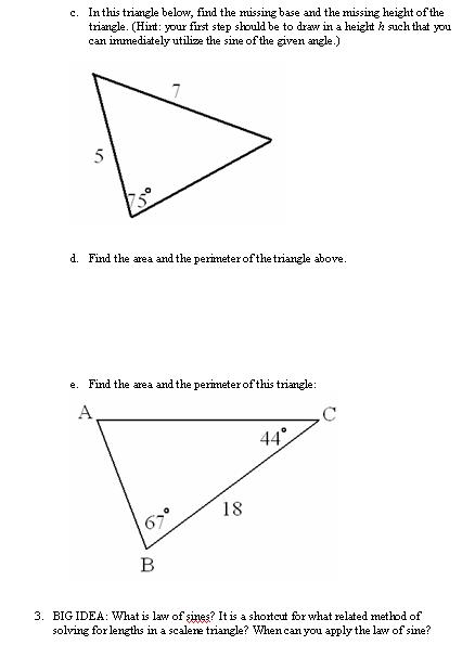 Printables Law Of Sines Worksheet i hope this old train breaks down learning laws of sines and cosines the hard way