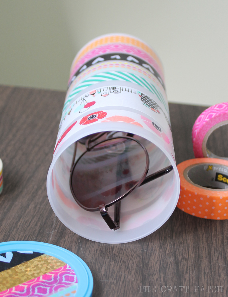 Sunglasses Case with Washi Tape