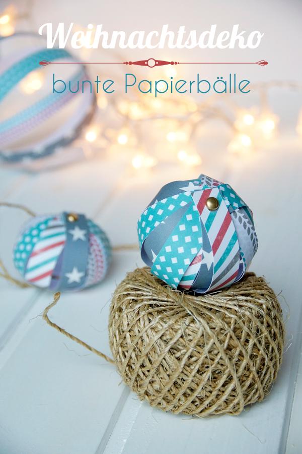 Basteln mit Papier, Papierbälle DIY spoonandkey Blog