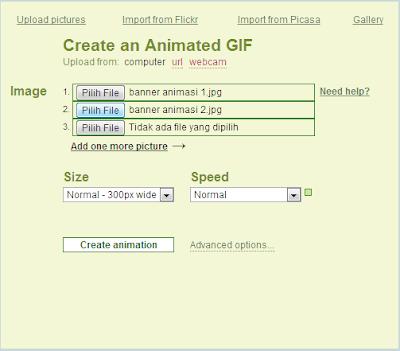 Cara Membuat Banner Animasi Blog / Website Gratis