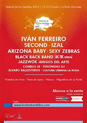 cartel Festival de los sentidos 2014