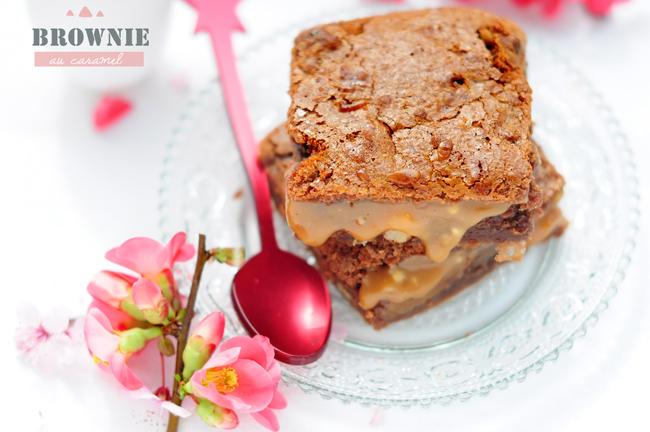 brownie chocolat au lait caramel au beurre sal paperblog. Black Bedroom Furniture Sets. Home Design Ideas