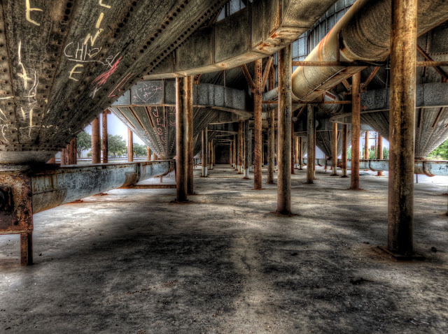 No Label Brewery - Under the Silos - Katy, Texas, HDR