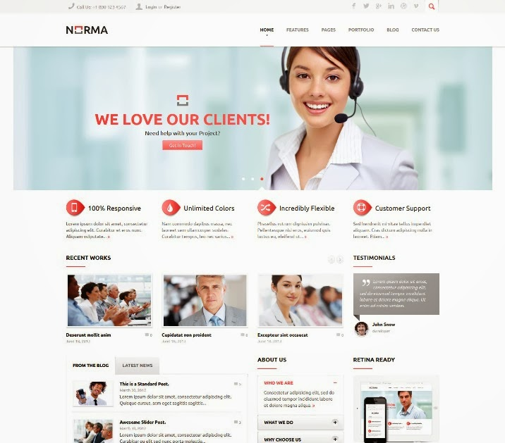 NORMA - Clean & Responsive Drupal Theme