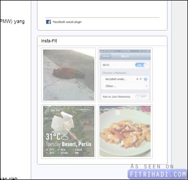 tutorial cara letak gambar instagram dalam sidebar blog