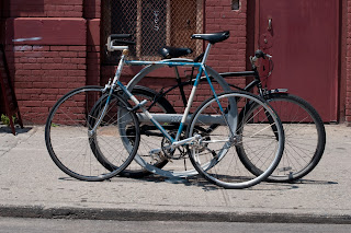 raleigh, bicycle, the biketorialist, biketorialist, single speed, fixed speed, fixie, blue , frame, tim macauley, timothy macauley, model, frame, paint job, Brooklyn, jay st, brooks, saddle, New York, NY, USA