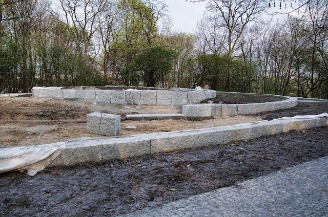 Baustelle Fritz-Schloß-Park, Aufwertung des Südplateaus, Rathenower Straße, 10559 Berlin, 03.04.2014