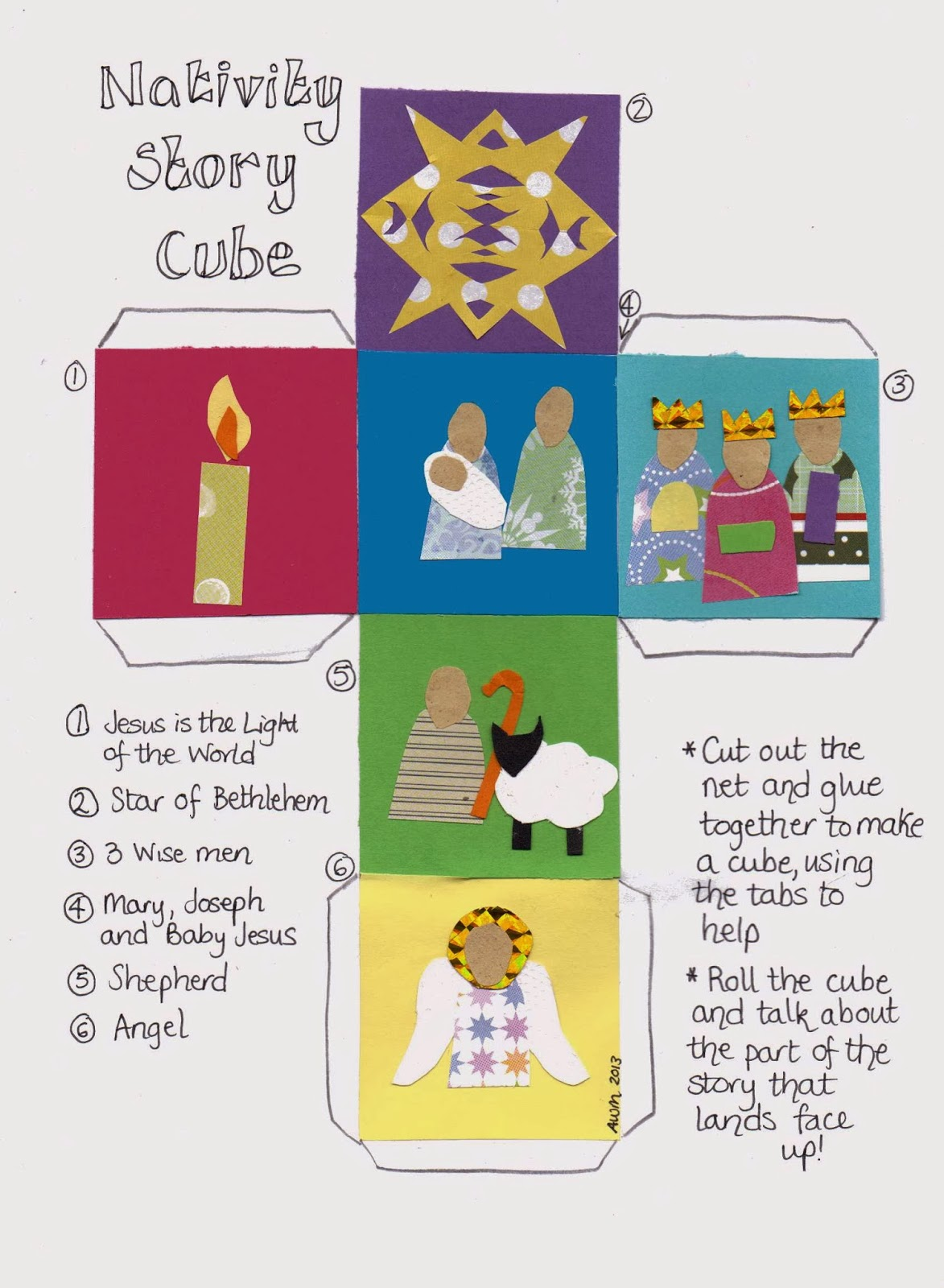 It is a photo of Bright Printable Nativity Story