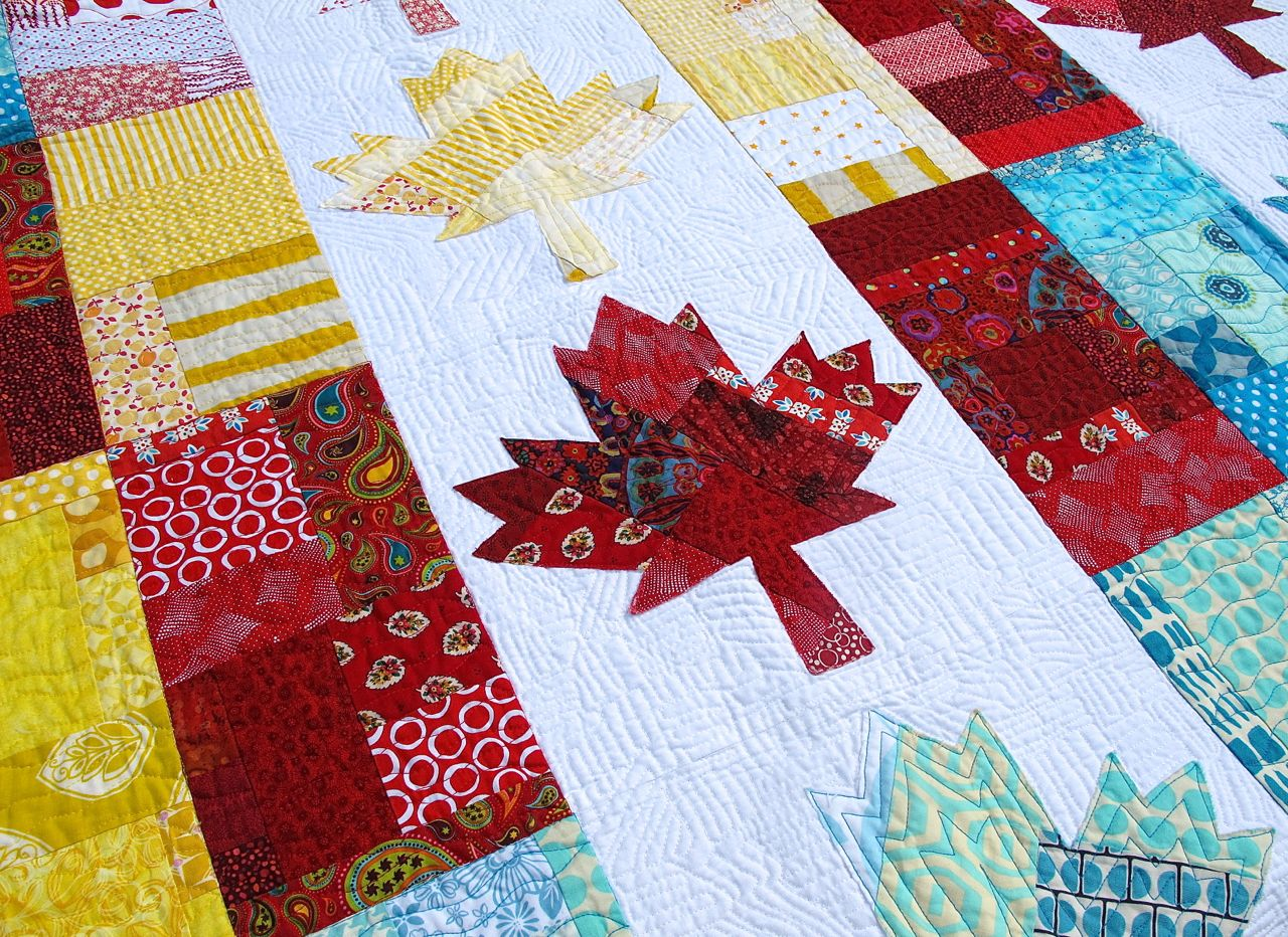 Quilt Pattern For Maple Leaf : Dining Room Empire: Oh Canada! Quilting Details
