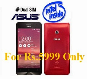 Great Price with Great Performance  Asus Zenfone 4 A400CG with Intel Processor, 1 GB RAM, 8 GB ROM, Powerful Corning Gorilla Glass, 5MP Camera just for Rs.5999 Only