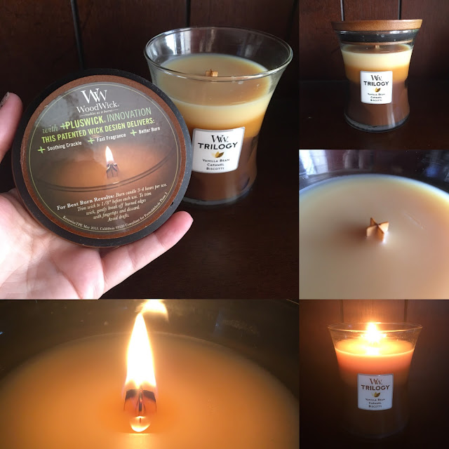 Wood Wicks Vanilla Bean Caramel and Biscotti Candles