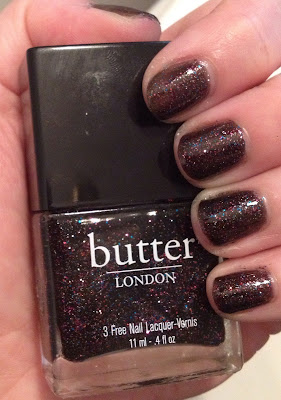 butter LONDON, butter LONDON The Black Knight, nail polish, nail varnish, nail lacquer, manicure, mani monday, #manimonday, nails