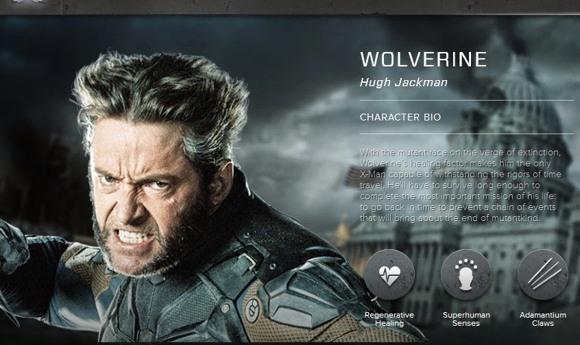 http://www.x-menmovies.com/#!/character/wolverine