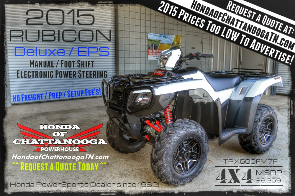 2015 Rubicon 500 Deluxe Price Specs For Sale Chattanooga TN GA AL
