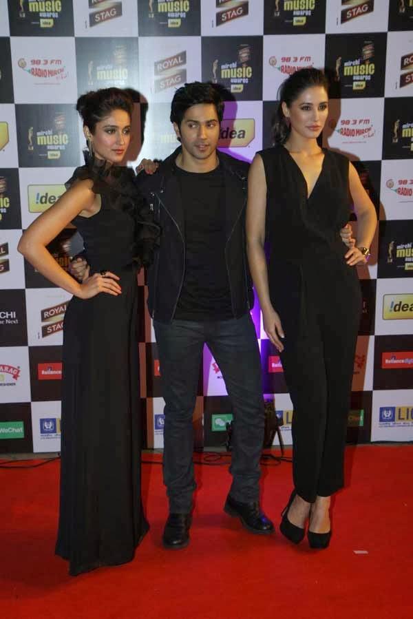 Varun Dhawan, Ileana D`Cruz, and Nargis Fakhri