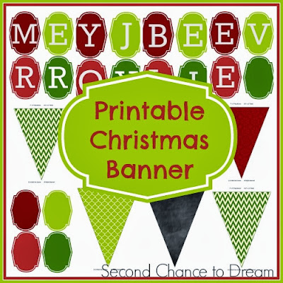 Second Chance to Dream Free Printable Christmas Banner