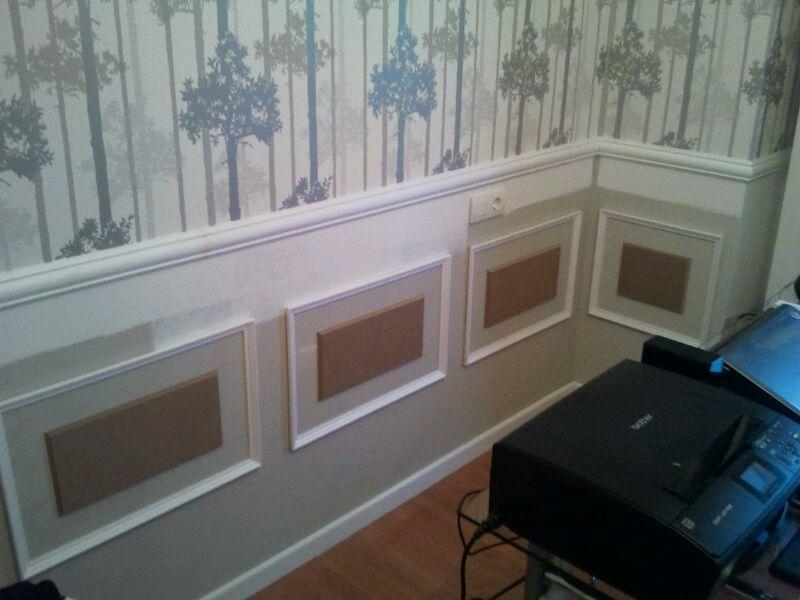 Diy las paredes con molduras x4duros de yahoo for Molduras de madera para pared