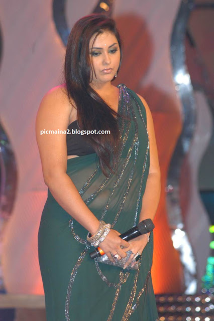 namitha latest saree sexy hot