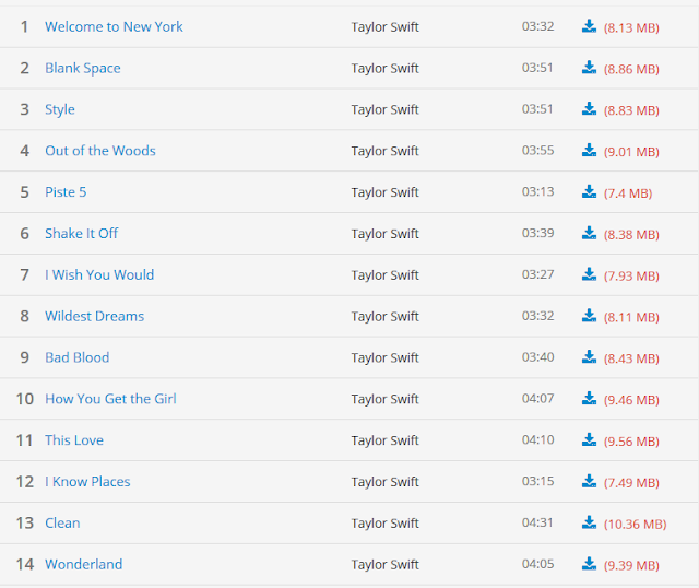 Download Album Taylor Swift 1989 Full Album
