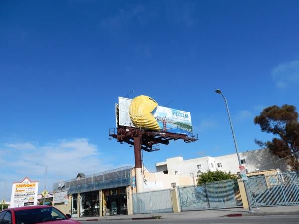 3D PacMan Pixels Movie billboard