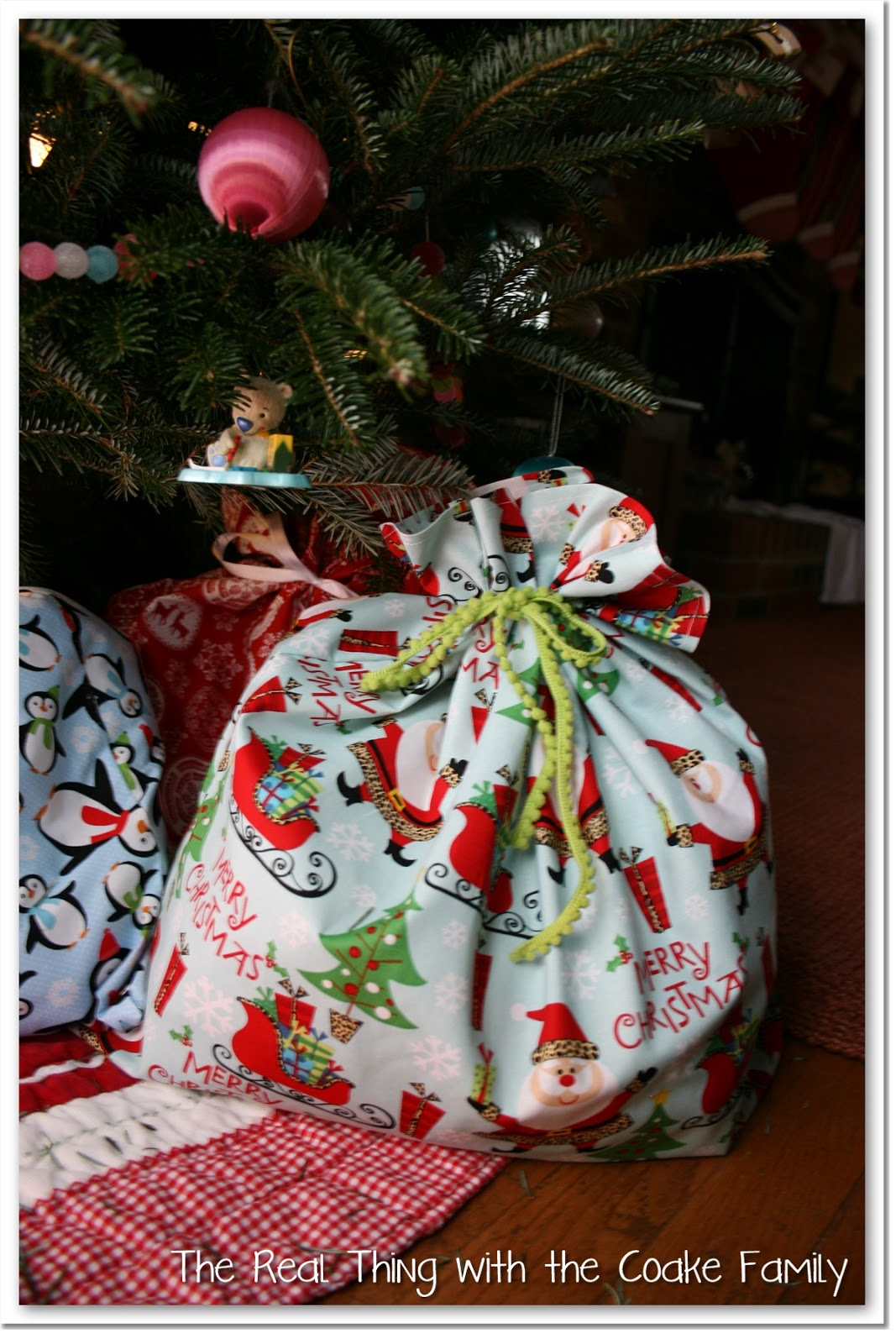 Gift Wrapping Ideas ~ Fabric Gift Bags - The Real Thing with the ...