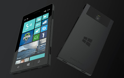 Mockup do Surface Phone, o celular da Microsoft