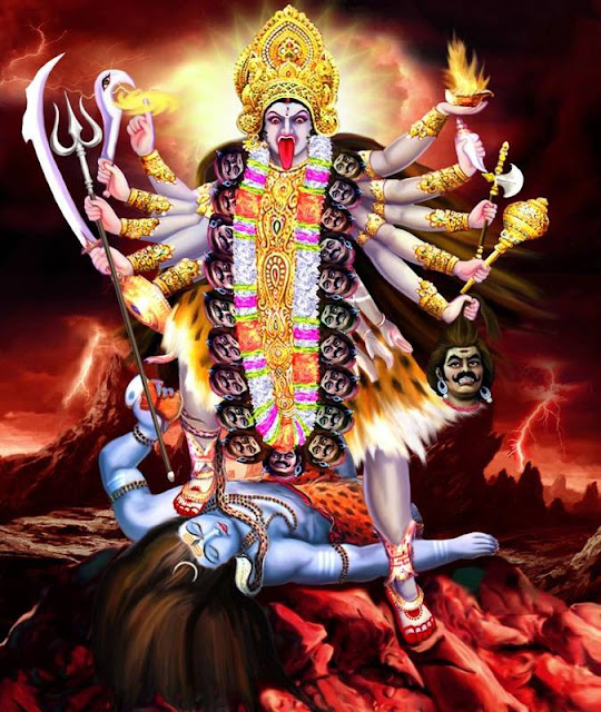 Goddess Kali neutralizing Lord Shiva, The Destroyer (Neutron as per Humanism).