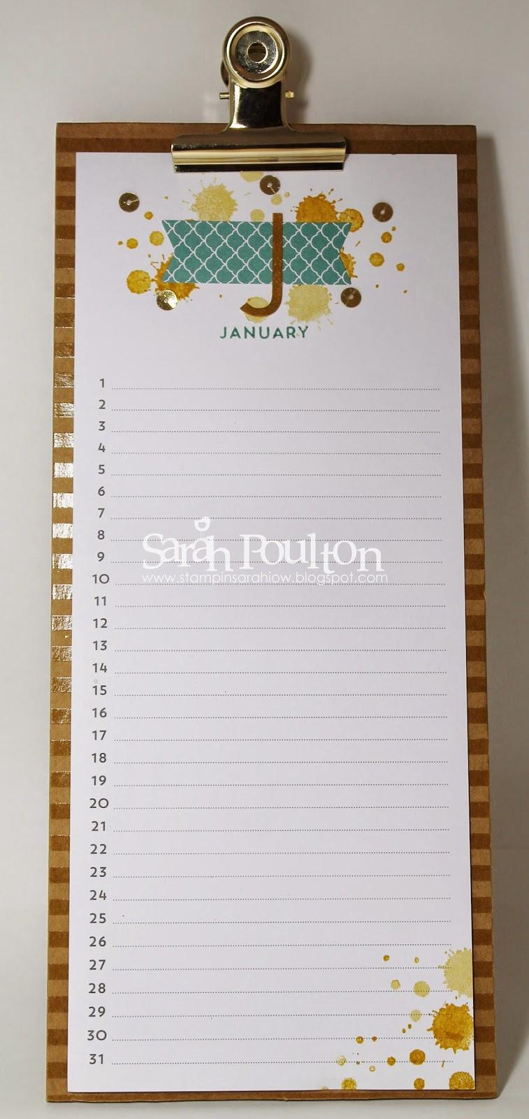 Perpetual Calendar Stamp : Stampin sarah perpetual birthday calendar project kit