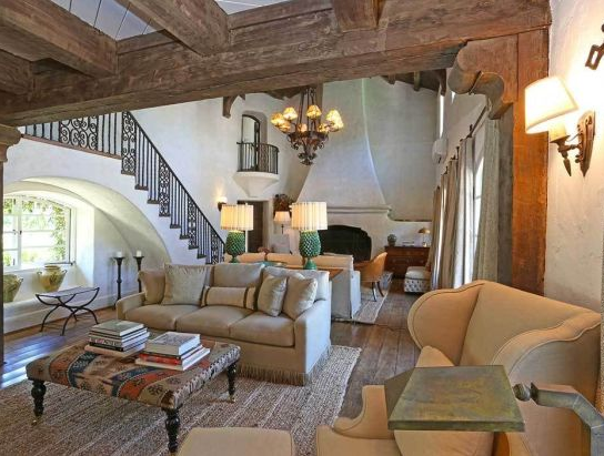 Interior of Reese Witherspoon's Ranch in Ojai, California