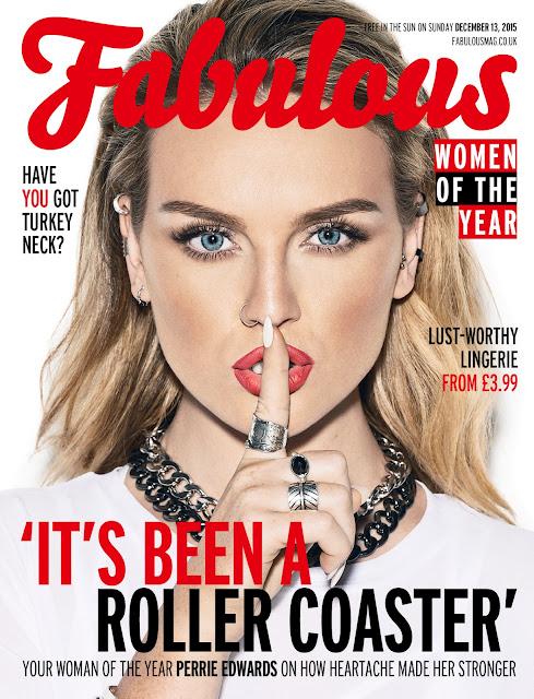 Singer, @ Perrie Edwards - Fabulous Magazine, December 2015