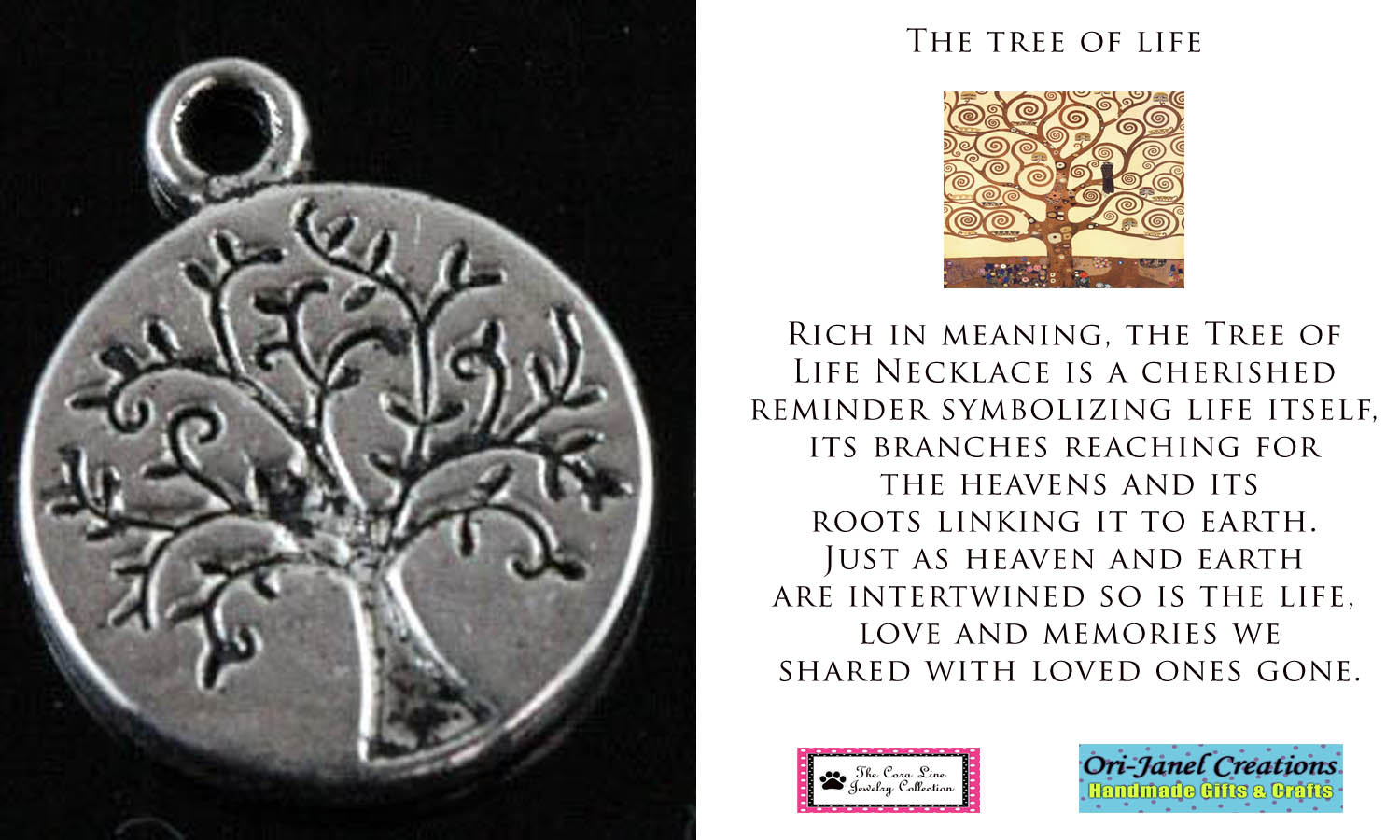 Ori janel creations new tree of life charms for What is the meaning of the tree of life jewelry