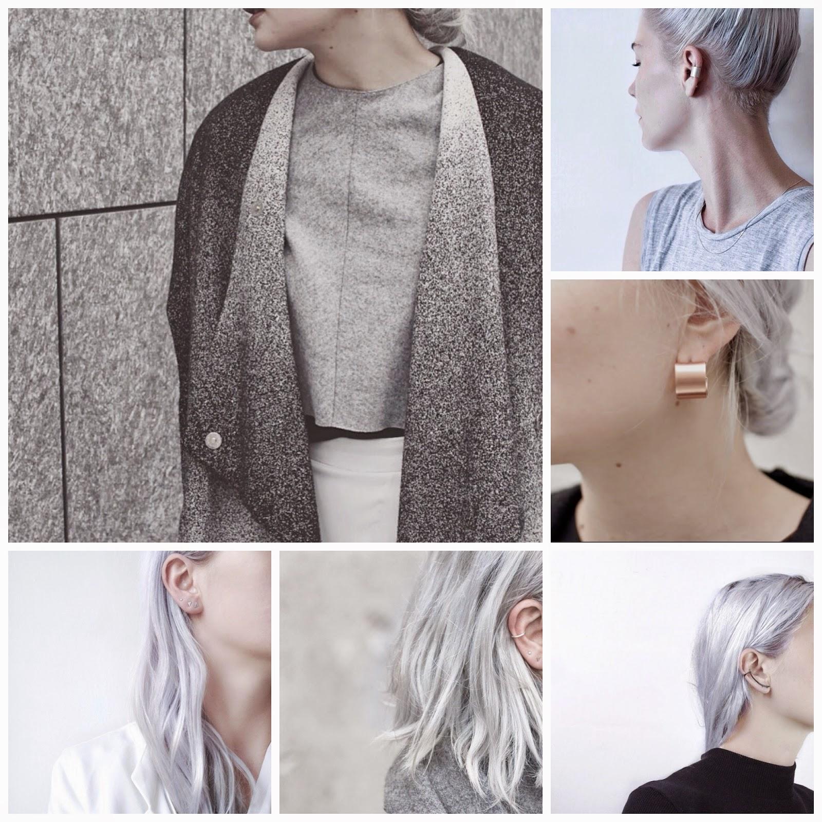 silver hair, gray hair,