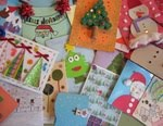 Handmade Christmas cards exchange