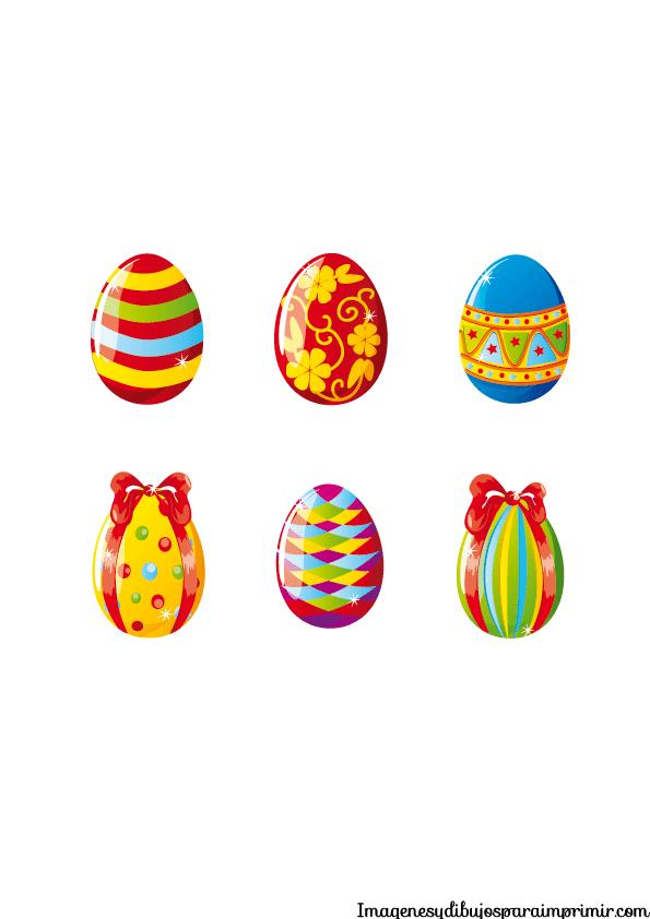 Huevos de pascua para imprimir