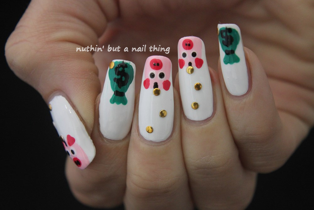 Nuthin but a nail thing 40 great nail art ideas your job piggy bank nails prinsesfo Images