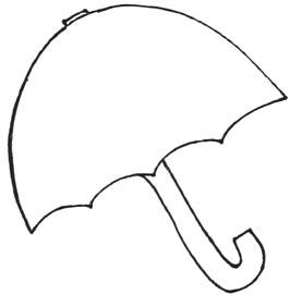Atividades jardim da fantasia painel com elementos da for Printable umbrella template for preschool
