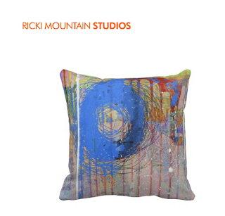 Art by Ricki Mountain - Art Pattern Pillow