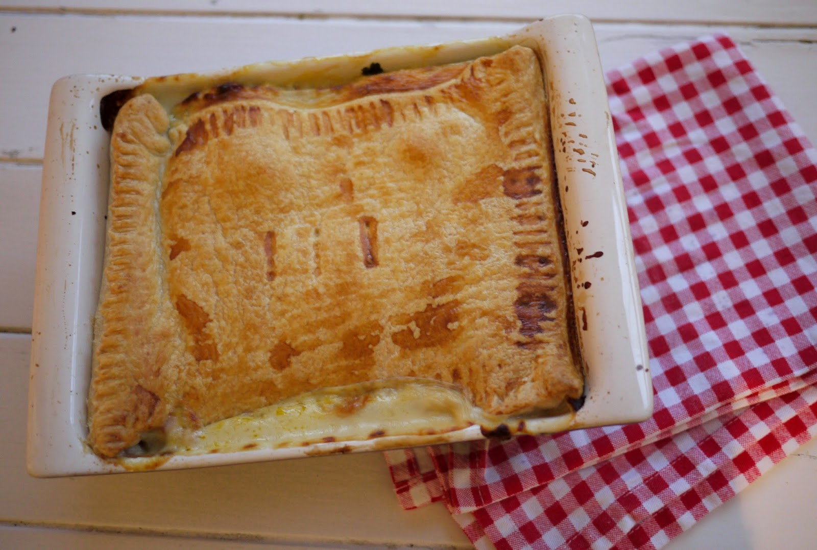 ... Kate Baked...and baby!: Chicken, Bacon and Mushroom Winter Warmer Pie