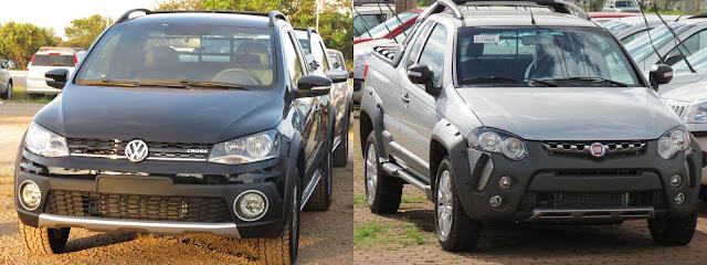 Fiat Strada Adventure x Saveiro Cross 2014