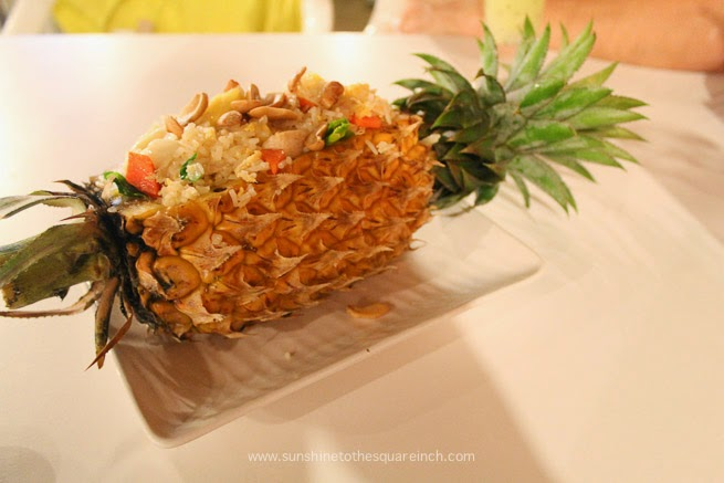 fried rice in a pineapple