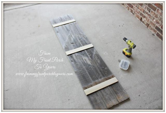 DIY Planked Sign