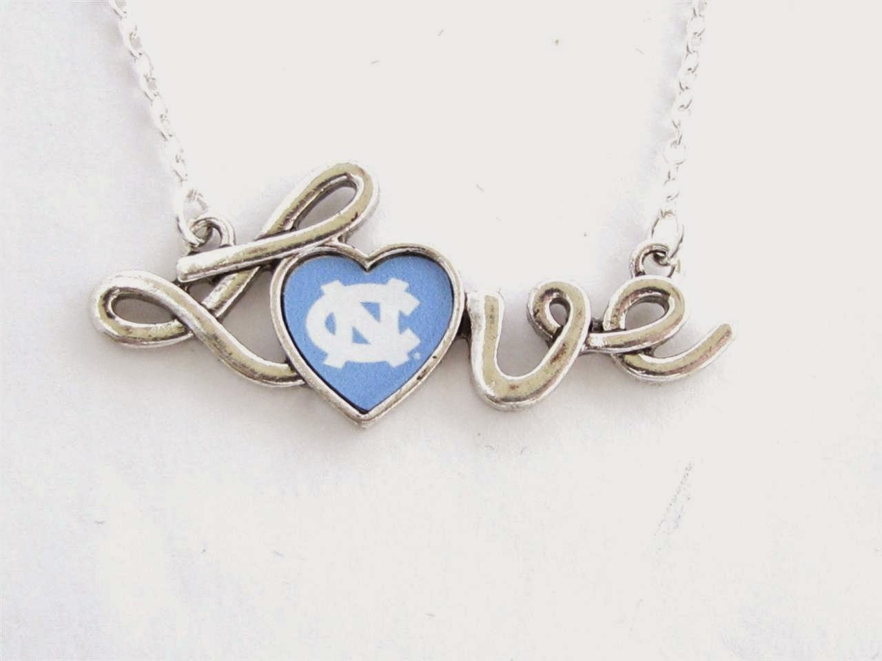 UNC Tar Heels NCAA Love Necklace